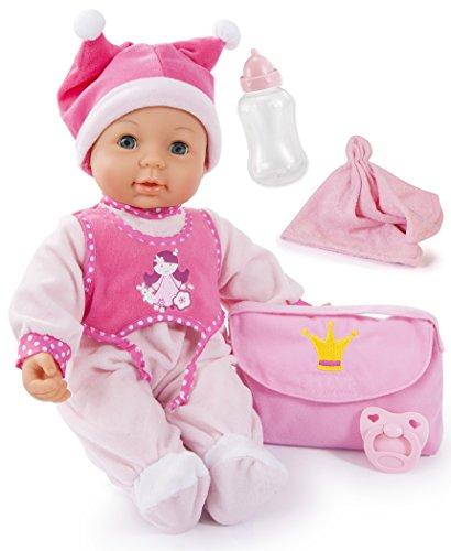 Bayer Design - 94279 - Poupon - First Kisses Baby avec Yeux Dormeurs Et Sons - 42 Cm