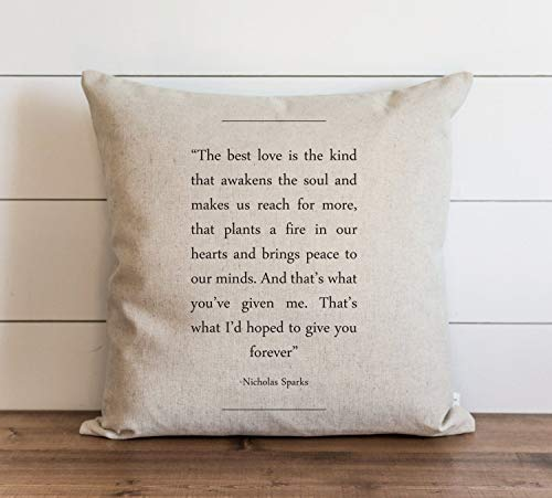 Book Collection Nicholas Sparks Pillow Cover Everyday Throw Pillow Gift Accent Pillow Cushion Cover Case Pillowcase with Hidden Zipper Closure for Sofa Home Decor 22 x 22 Inches