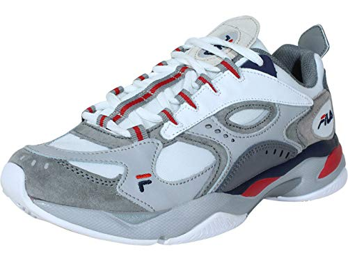 Fila Men's Boveasorus Shoes Sneakers (11, White/Navy)