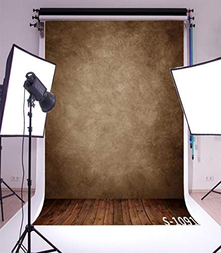 Vinyl Backdrop Photography Background Blur Smooth Brown Color Brick Wall Stripes Wood Floor Scene Kids Children Adults Baby Photo Portraits Background for 1.5x2.2M Photo Studio Props