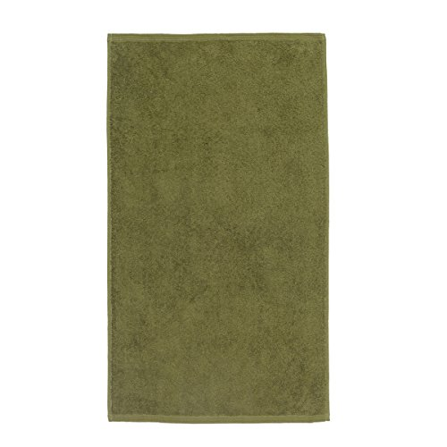 Sancarlos - Toalla lisa OCEAN, Densidad 550 gr/m2, Verde, Tocador, 30x50 cm