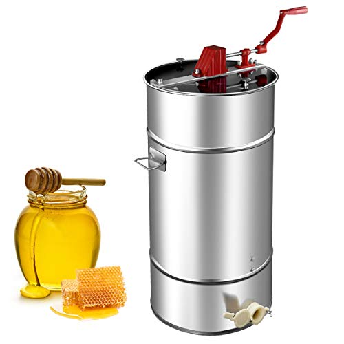 Goplus Manual 2 Frame Honey Extractor Stainless Steel Honey Separator...