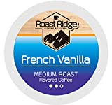 Roast Ridge Single Serve Coffee Pods Compatible with Keurig K-Cup Brewers, French Vanilla 100 Ct.