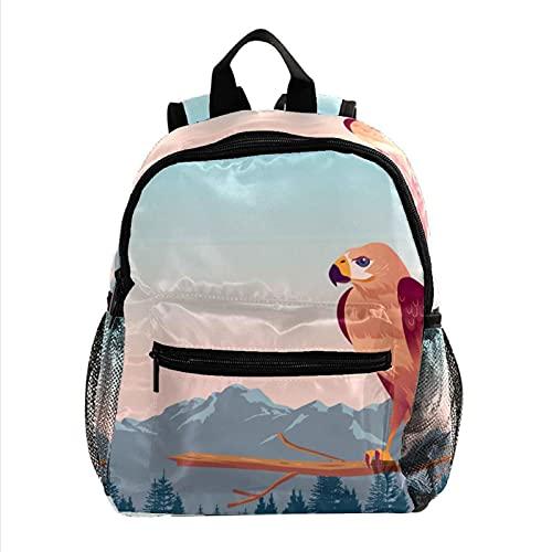 Kinderrucksack Rucksack Taschen Jungen Kinder Mädchen Reiseschulen Bussard Vogel