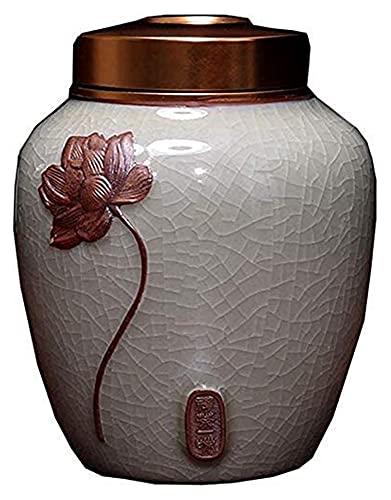 YLKCU Urnas de cremación de Porcelana con Grietas Medianas en Relieve