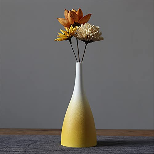 RZHIXR Vaso in Ceramica Gradiente, Vaso in Ceramica Semplice E Moderno, Utilizzato per Soggiorno, Cucina, Tavolo da Pranzo, Decorazione per Ufficio, Decorazione per Matrimoni