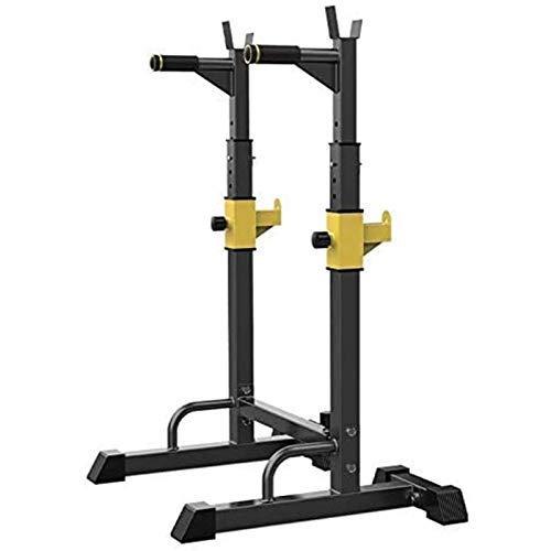 Rejilla ajustable para sentadillas, multifunción, barra para sentadillas, 250 kg, carga máxima, peso, soporte, barra para banco Wight, hogar, interior, gimnasio, entrenamiento de fuerza, ejercicio pa