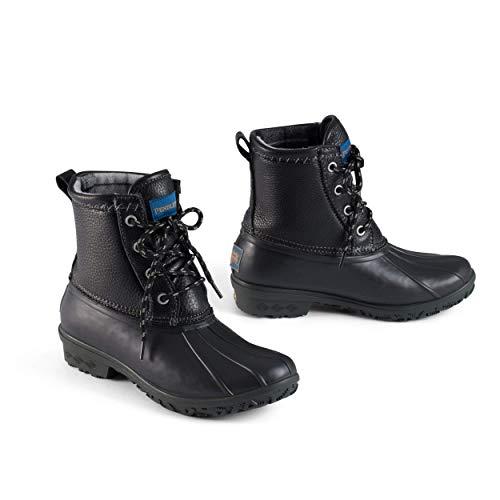 Pendleton Women's Heritage Pattern Slip-Resistant Duck Boot (Black, Numeric_9)