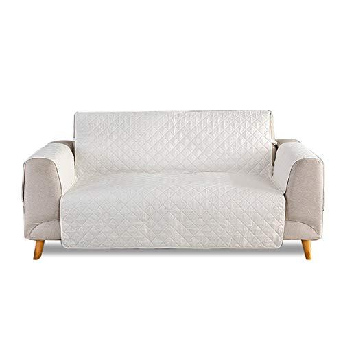 PETCUTE Fundas para sofá 2 Plazas Acolchadas Cubre Sofa Dos plazas Protector sofás para Perros Fundas Sofa Beige