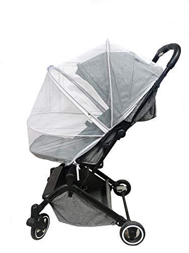 Mosquitera para cochecito de bebé, con cremallera, resistente y lavable, ideal para proteger contra avispas y mosquitos