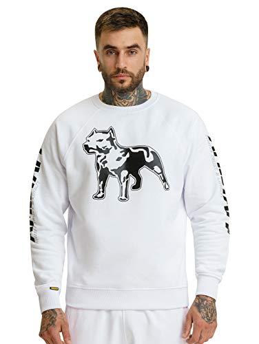 Amstaff Männer Logo 2.0 Sweatshirt Pullover Weiß/Schwarz M