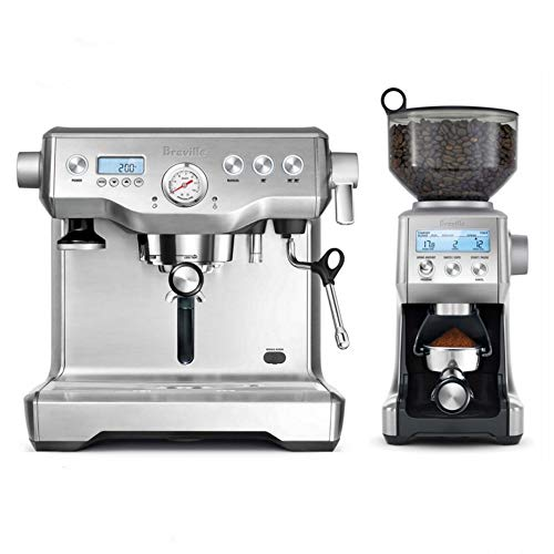 Breville Dynamic Duo Dual Boiler Espresso Machine and Smart Grinder Pro Package, Stainless Steel - BEP920BSS