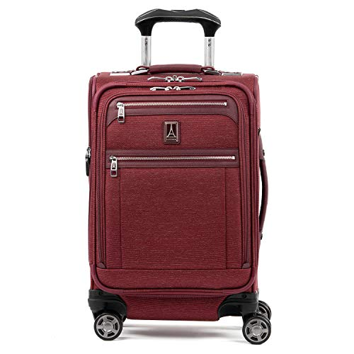 Travelpro Luggage Platinum Elite 20' Carry-on Expandable Business Spinner w/USB Port, Bordeaux