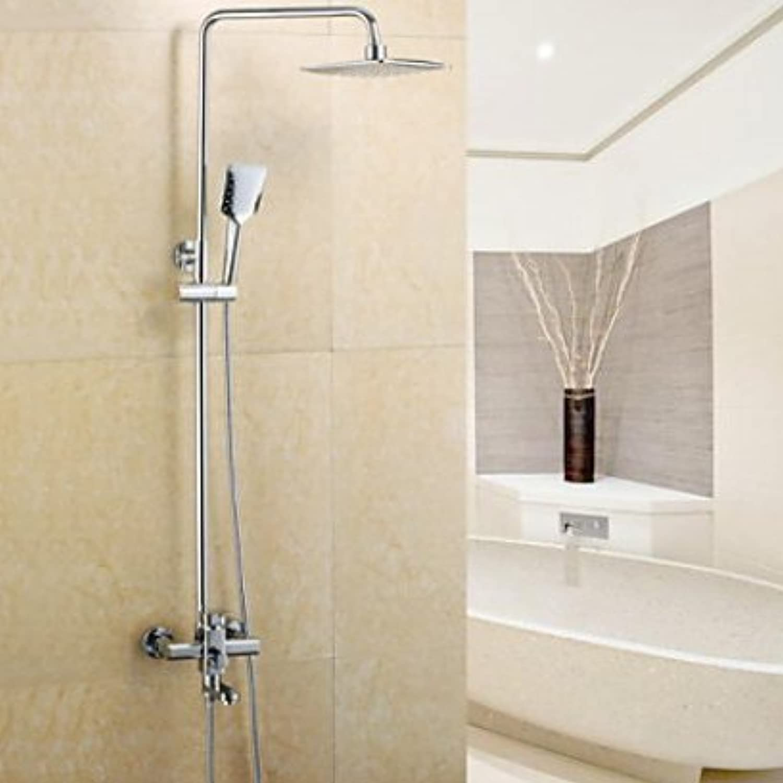 Dusche Armaturen modernes Regen Dusche Handbrause inklusive Messing Chrom