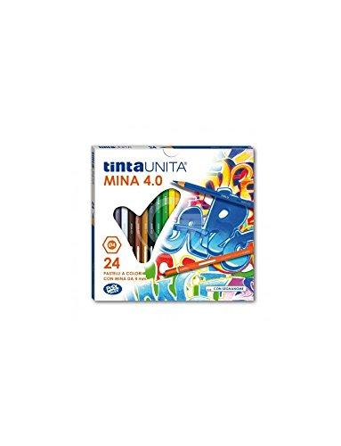 Pool Over - Tintauni 040700.02 Pastelli Tinta Unita da 24 Mina, 4 mm
