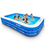 CFBF Inflatable Pool, 120' x 72' x 22' Full-Sized Family Inflatable Swimming Pool , Above Ground Blow up Pool for Kids, Adults, Toddlers, Outdoor, Garden, Backyard, Includes Patches