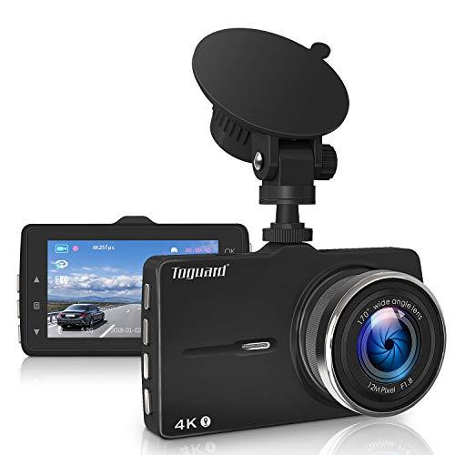 Upgrade 4K Dash Cam TOGUARD mit GPS auf der Autokamera Videorecorder 3 Zoll Bildschirm Dashcams für Autos mit Loop Recording Parking Monitor G-Sensor