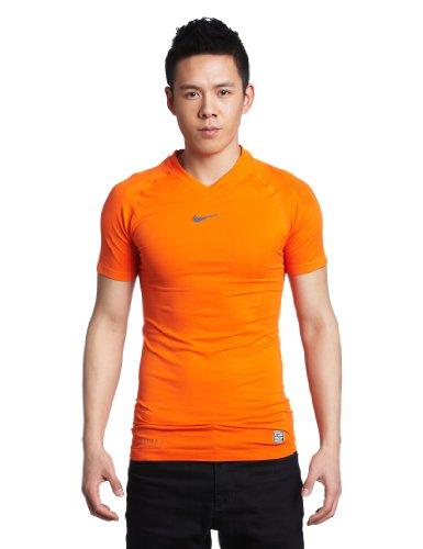NIKE Herren kurzärmliges Kompressionsshirt Pro Combat Hypercool Vapor SMLS Top, safety orange, L, 454815-815