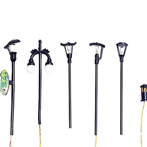 d/écoration de Jardin Miniature d/écoration de Jardin f/éerique 2 pi/èces Uteruik Mini Lampe de Rue r/étro Mignonne Peinte /à la Main pour Maison de poup/ée