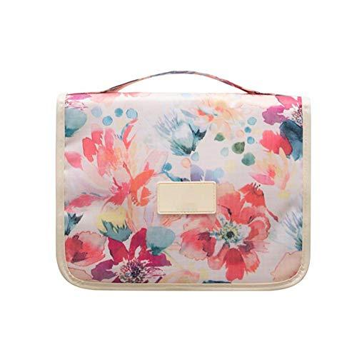 Aikesi Kreativ Waschtasche Blume Kulturbeutel Kulturtasche für Damen Herren Manner 1 Stück Rosa