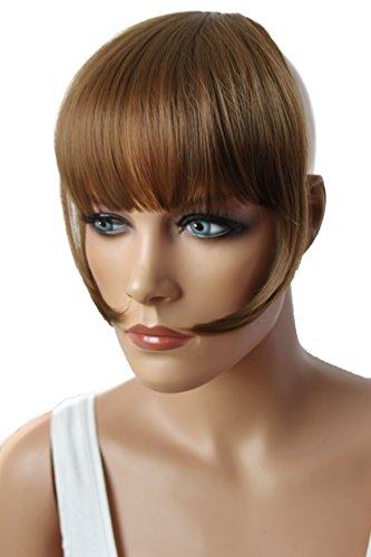 PRETTYSHOP Clip In Extension Haarverlängerung Pony Stirnfransen Haarteil Natürlich HF6-2