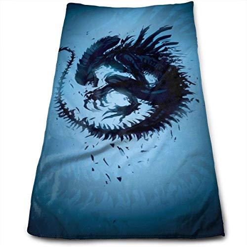 Hdadwy Toalla alienígena aterradora destrozada, 100% algodón de Lujo, Toallas de baño Suaves, Gruesas, de Calidad, para baño, Hotel y Cocina, (12 x 27,5 Pulgadas)