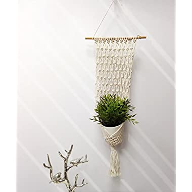 Macrame Handmade Plant Hanger Home Decorative Art, 9  x 28