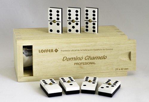 Loffer - Dominó Profesional Chamelo, Caja de Madera (Domarch A351M)
