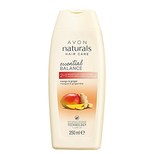 Avon Naturals Hair Care 2-in-1-Haarpflegeprodukt (Shampoo & Conditioner), mit Naturals Science-Technologie und niedrigem pH-Wert, 250 ml