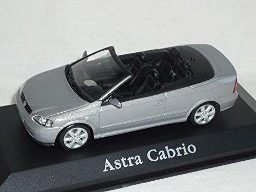 Minichamps Opel Astra G Cabrio 1998-2005 Silber 1/43 Modell Auto Modellauto