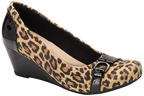 Clarks Damen Pumps, Hellbraunes Leopardenmuster, 42 EU