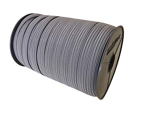 20m Gummiseil Expanderseil flach Expanderband Gummiband in Grau 22mm breit 3mm