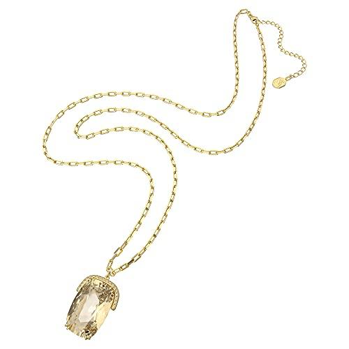 Swarovski Harmonia Pendant, Oversized Crystals, Yellow, Gold-Tone Pl