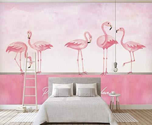 Wallpaper 3D Mural for Walls Pink Flamingo Wall Decoration 3D Wallpapers for Walls Murals