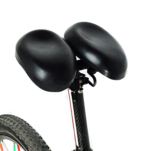 Sillines de Bicicleta Ajustables sin Nariz Doble Acolchado Cómodo Extra Ancho Grande sin Presión Ergonómico Sillín de Bicicleta de Doble Almohadilla,