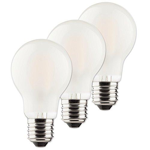 Müller-Licht Retro-LED Birnenform ersetzt 40 W, Glas, E27, 4 W, Silber, 6 x 6 x 10.6 cm, 3 Einheiten, 400289_Set