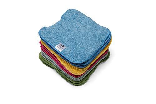 Lot de 25 linges en coton éponge réutilisables arc-en-ciel pour bébé
