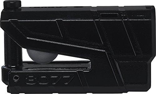 ABUS 78607-5Bloccadisco Allarme moto omologato SRA, Nero