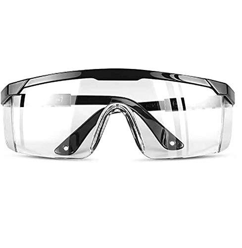 TiooDre Occhiali protettivi Antivento antipolvere Protezione antispruzzo Occhiali trasparenti Protezione degli occhi da lavoro Articoli (Upgraded Version C)
