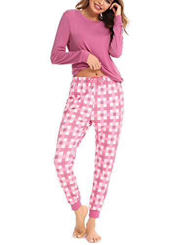 Aibrou Pijama Mujer Invierno de Algodón Conjuntos...