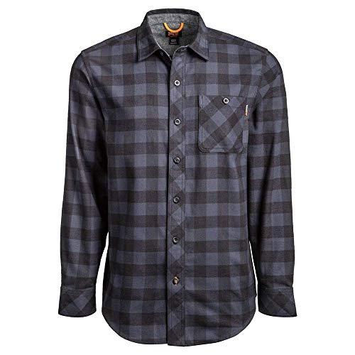 Timberland PRO Herren Woodfort Mid-Weight Flannel Shirt Work Utility Hemd, Navy Buffalo Check, Mittel
