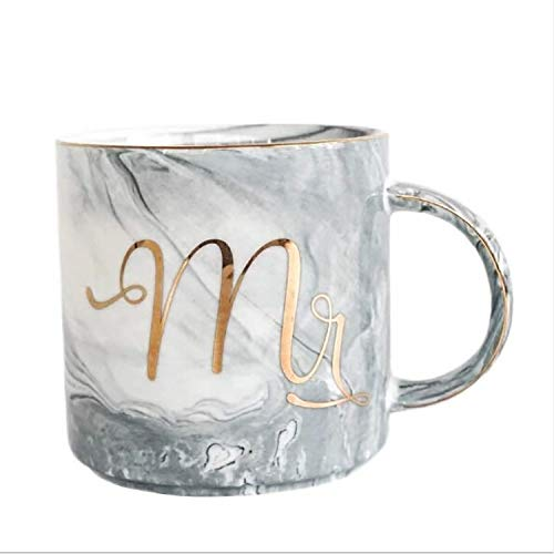 Ysswjzz Stone ware Mokken Koppen met decoratieve pretberichten Ideaal for warme dranken, Afternoon Tea, koffie, latte, warme chocolademelk en More-heer Gray