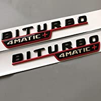 メルセデスベンツAMG V12BITURBO V8 BITURBO 4MATIC + TURBO 4MATIC、レターエンブレムカースタイリングフェンダーロゴステッカークローム