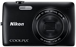 Nikon COOLPIX S4400 20.1MP 6X Optical Zoom Digital Camera - Black