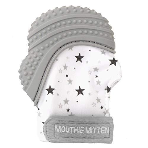 Mouthie Mitt - Guanto da dentizione, unisex, colore: Grigio con stelle, unisex