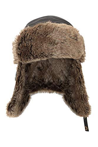 Mountain Warehouse Furry Cappello Unisex - Imbottitura in Pelliccia, Coperto sulle Orecchie e Laccio sul Mento - Ideale per Sciare Nero Taglia Unica