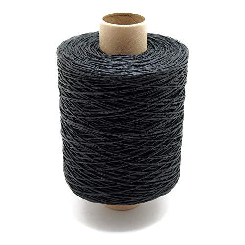 紙糸(細) 約480m ラッピンク用 包装資材 ハンドメイド 和紙糸 (31黒)
