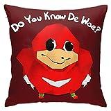 Gogad Fundas de Cojines Uganda Knuckles Cover Funda de cojín para Coche Interior sofá decoración de Dormitorio Funda de Almohada para sofá 45 cm × 45 cm