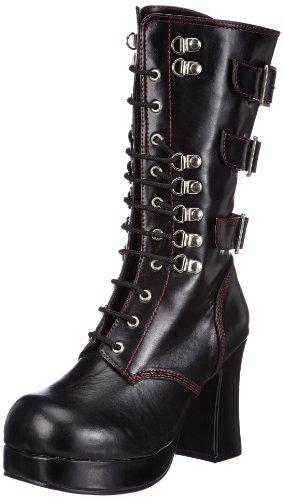 Demonia GOTHIKA-101 Damen Stiefel, Schwarz (Blk Vegan Leather), EU 38 (UK 5) (US 8)