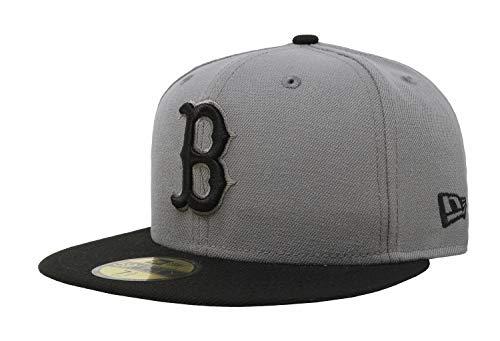 New Era 59Fifty MLB Basic Boston Red Sox Fitted Gray/Black Headwear Cap (8)
